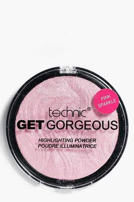 boohoo Technic Get Gorgeous Pink Sparkle Highlighter