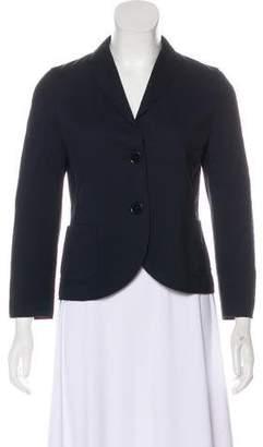 Akris Punto V-Neck Long Sleeve Blazer