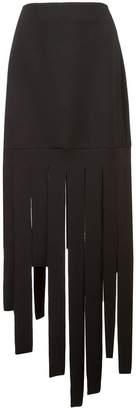 Carmen March striped hem skirt