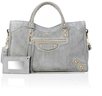 Balenciaga Women's Metallic Edge City-DARK GREY $2,025 thestylecure.com