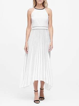 Banana Republic Petite Pleated Fit-and-Flare Dress