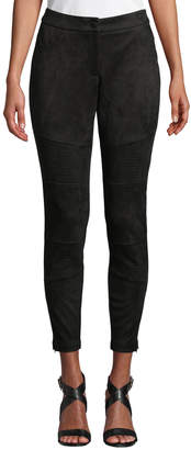 Laundry by Shelli Segal Faux-Suede Skinny Moto Pants