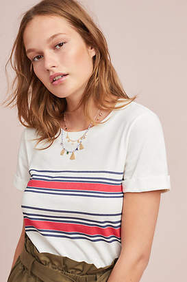 Sol Angeles Rojo Striped Tee
