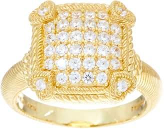 Judith Ripka Sterling or 14K Clad Olivia Diamonique Pave Ring