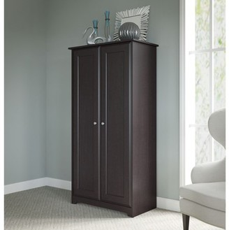 URBAN RESEARCH BUSH INDUSTRIES. INC. Bush Furniture Cabot Tall Storage Cabinet with in Espresso Oak
