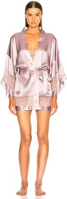 Fleur Du Mal Chateau Lace Kimono in Jasmine Pink | FWRD