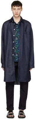 Sunnei Blue Denim Long Shirt