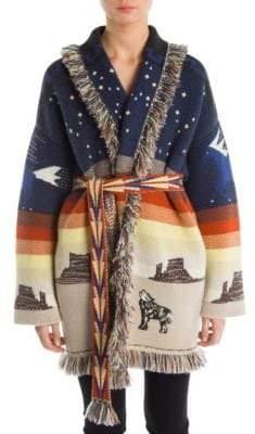 Alanui Desert Stars& Sky Lurex-Knit Cashmere Cardigan