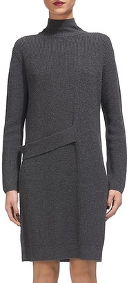 Whistles Tab Sweater Dress $300 thestylecure.com