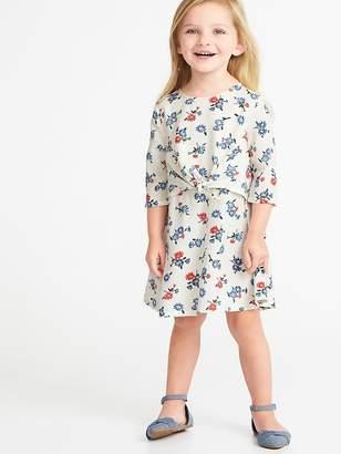 Old Navy Tie-Front Floral Dress for Toddler Girls