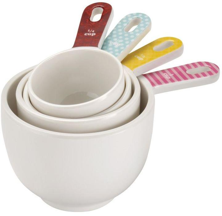 Cake Boss Countertop Accessories 4-Piece Melamine Measuring Cup Set in Basic Pattern