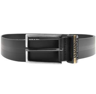 Armani Exchange Leather Belt Black