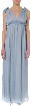 Dondup Light Blue Long Silk Dress
