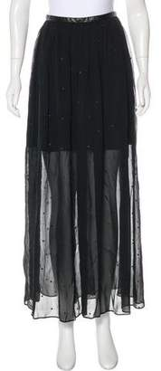 Tibi Semi-Sheer Maxi Skirt