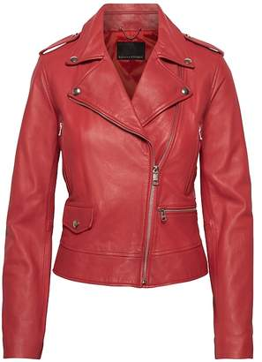Banana Republic Leather Moto Jacket