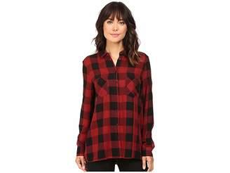 Mavi Jeans Shirt w/ Pocket Women's Long Sleeve Button Up