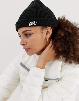 Nike Sb Black Fisherman Beanie Hat