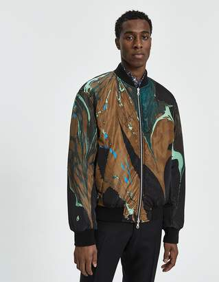 Dries Van Noten Reversible Bomber Jacket in Black