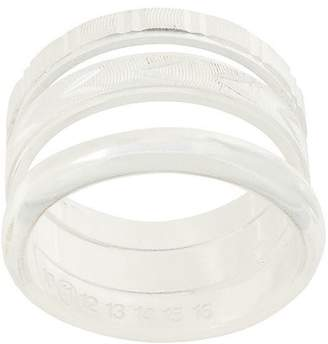Maison Margiela textured three-band ring
