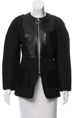 Alexander Wang Leather-Accented Perforated Jacket w/ Tags