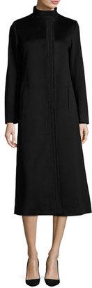 Fleurette Long Wool Coat, Black $1,210 thestylecure.com