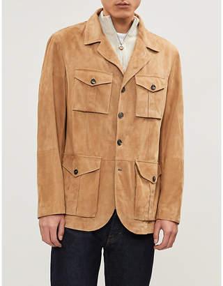 Brunello Cucinelli Patch-pocket suede field jacket