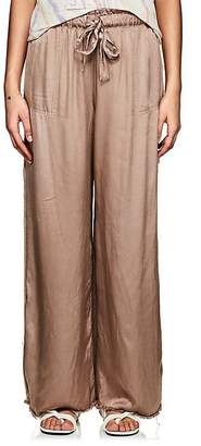 Raquel Allegra Women's Satin Wide-Leg Pants