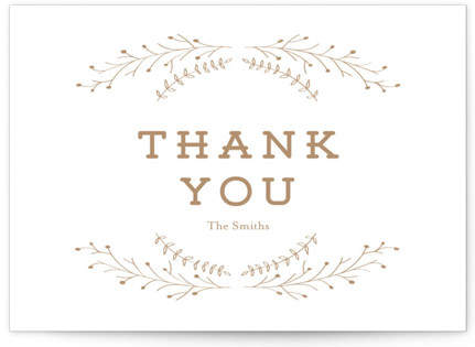 Wanderlust Wreath Letterpress Thank You Cards