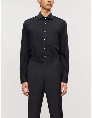 Ralph Lauren Purple Label Tailored-fit cotton-blend dress shirt