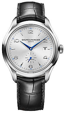 Baume & Mercier Baume& Mercier Baume& Mercier Men's Clifton 10052 Stainless Steel& Alligator Strap Watch
