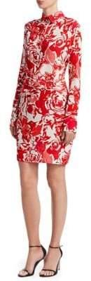 Roberto Cavalli Women's Rose Ruched Shirtdress - Hydrangea White - Size 46 (10)