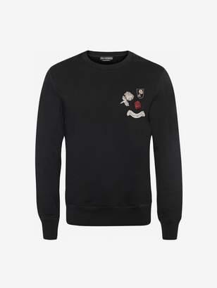 Alexander McQueen Crystal Badge Sweatshirt