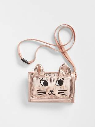 Gap Metallic Cat Wallet