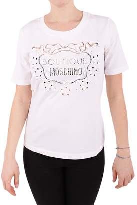 Moschino Embroidered Cotton T-shirt