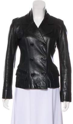 Sylvie Schimmel Leather Double-Breasted Jacket