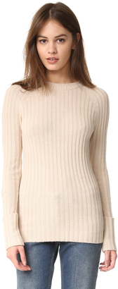 Autumn Cashmere Ribbed Cuffed Sweater $242 thestylecure.com