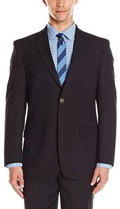 Adolfo Men's Black Modern Fit Classic Blazer