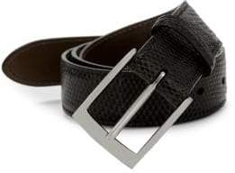 Saks Fifth Avenue Boxed Lizard Leather Belt with Interchangeable Buckles