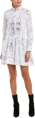Paul & Joe Sister Kitty In Space A-Line Dress