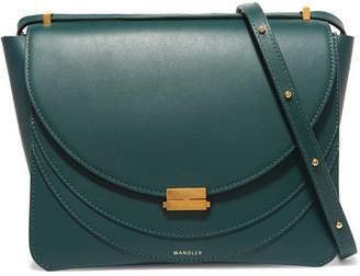 Wandler - Luna Leather Shoulder Bag - Forest green