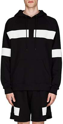 Givenchy Men's Reflective-Tape-Detailed Cotton Terry Hoodie - Black
