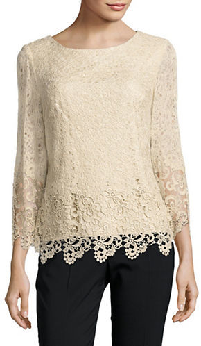 Alex Evenings Alex Evenings Plus Solid Lace Top