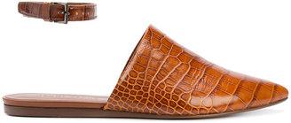crocodile skin effect mules