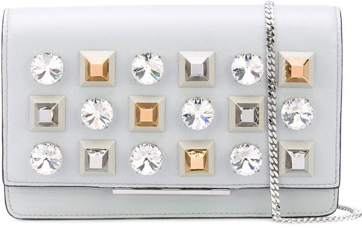 FendiFendi jewel embellished shoulder bag