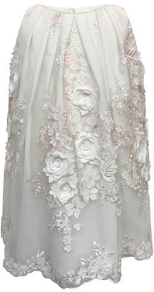 Helena 3D Flower Lace Embroidered Dress, Size 7-14