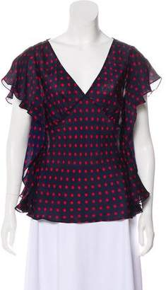 Lauren Ralph Lauren Silk Polka Dot Top