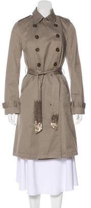 Gryphon Knee-Length Trench Coat
