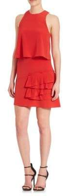 Tibi Heavy Silk Sophia Ruffle Dress