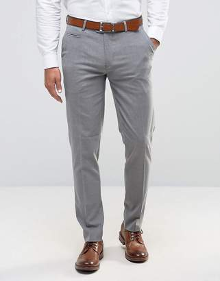 Asos Skinny Smart Trousers In Mid Grey