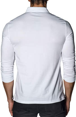Jared Lang Long-Sleeve Knit Polo Shirt